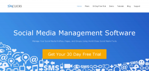 SMclicks social media management software